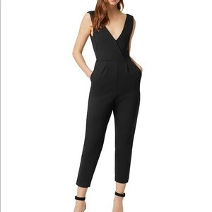 French Connection Marie Cropped Jumpsuit - Black 2
